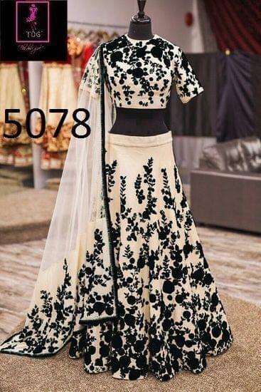 Black Color Banglory Lehenga Choli 5078