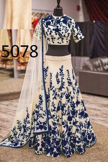Blue Color Banglori Lehenga Choli 5078-Blue