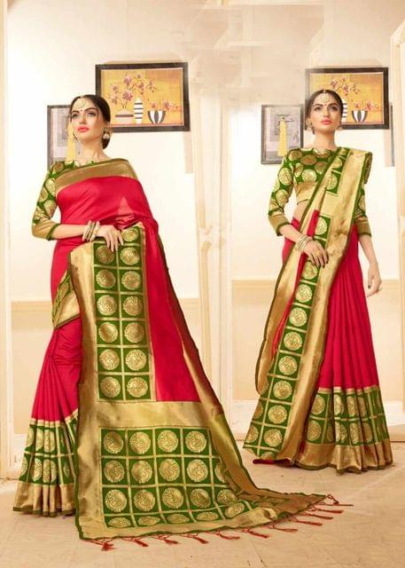 Pink Color Designer Trendy Silk Saree 30524