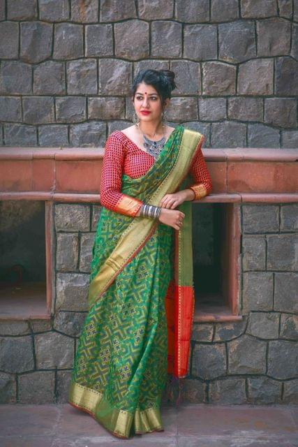 Green Color Designer Patola Silk Saree 30563