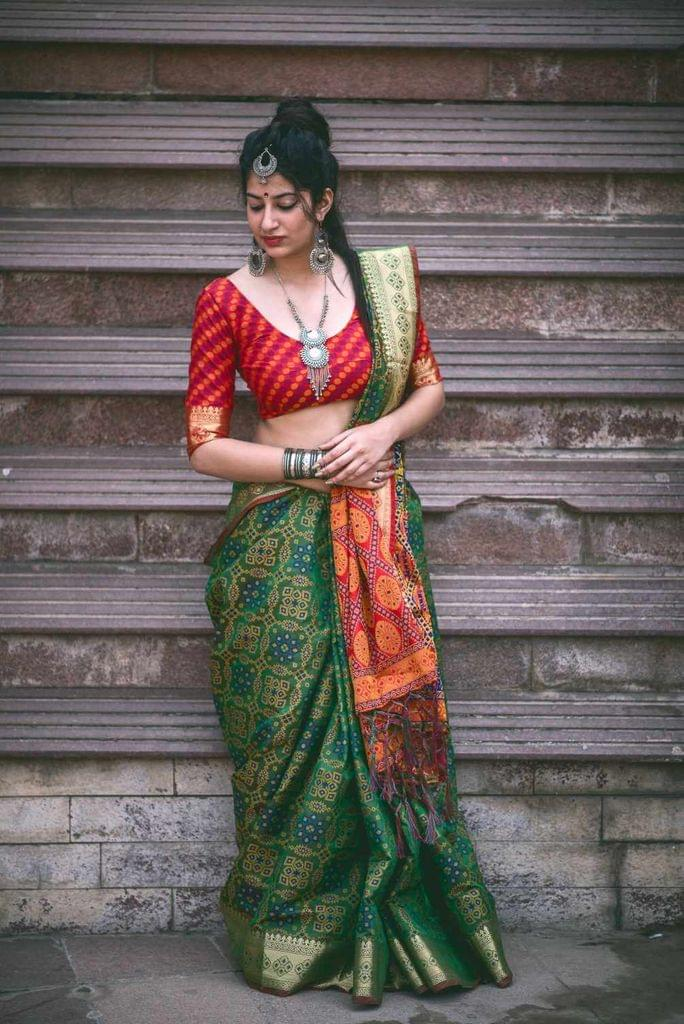 Green Color Designer Patola Silk Saree 30565