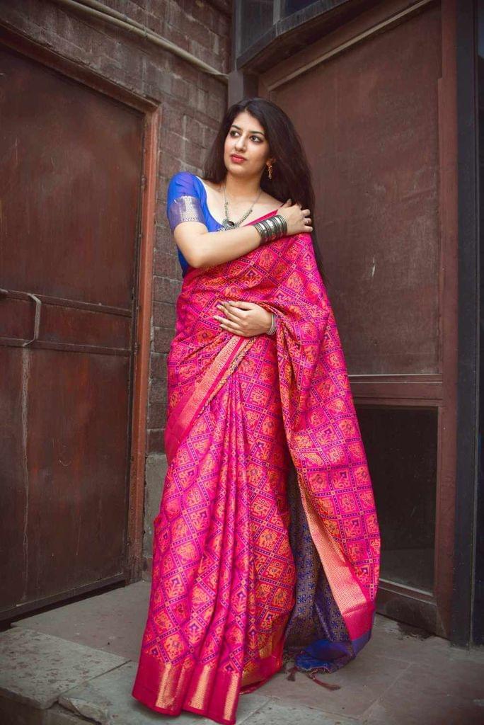 Pink Color Designer Patola Silk Saree 30568