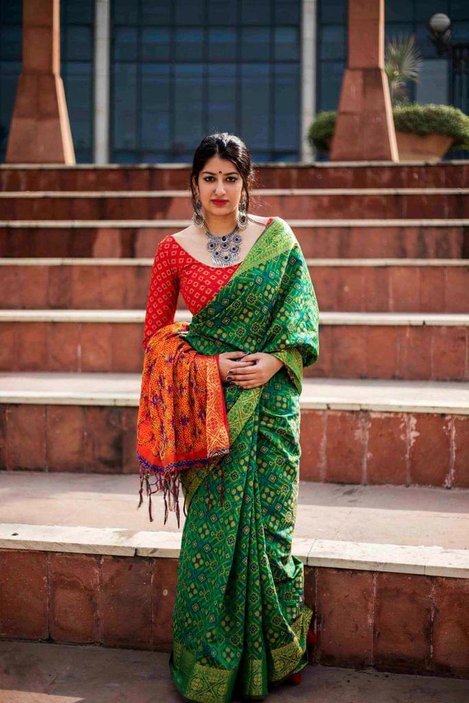 Green Color Designer Patola Silk Saree 30569