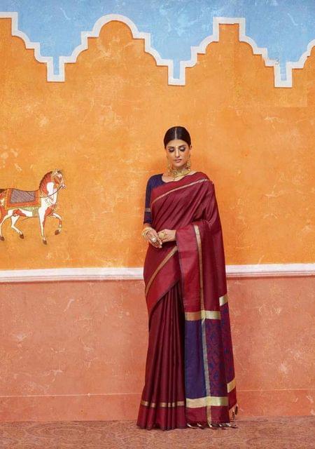 Maroon Color Designer Trendy Silk Saree 29913
