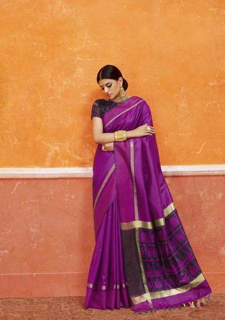 Purple Color Designer Trendy Silk Saree 29914