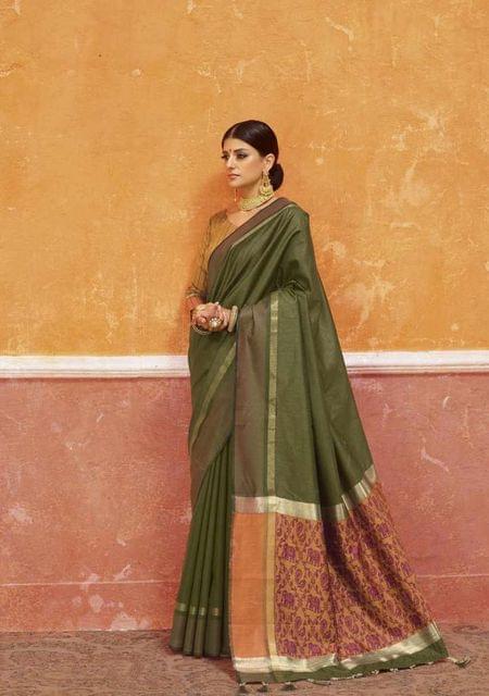 Mahendi  Color Designer Trendy Silk Saree 29918