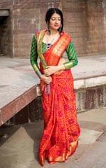 Orange Color Designer Patola Silk Saree 30571