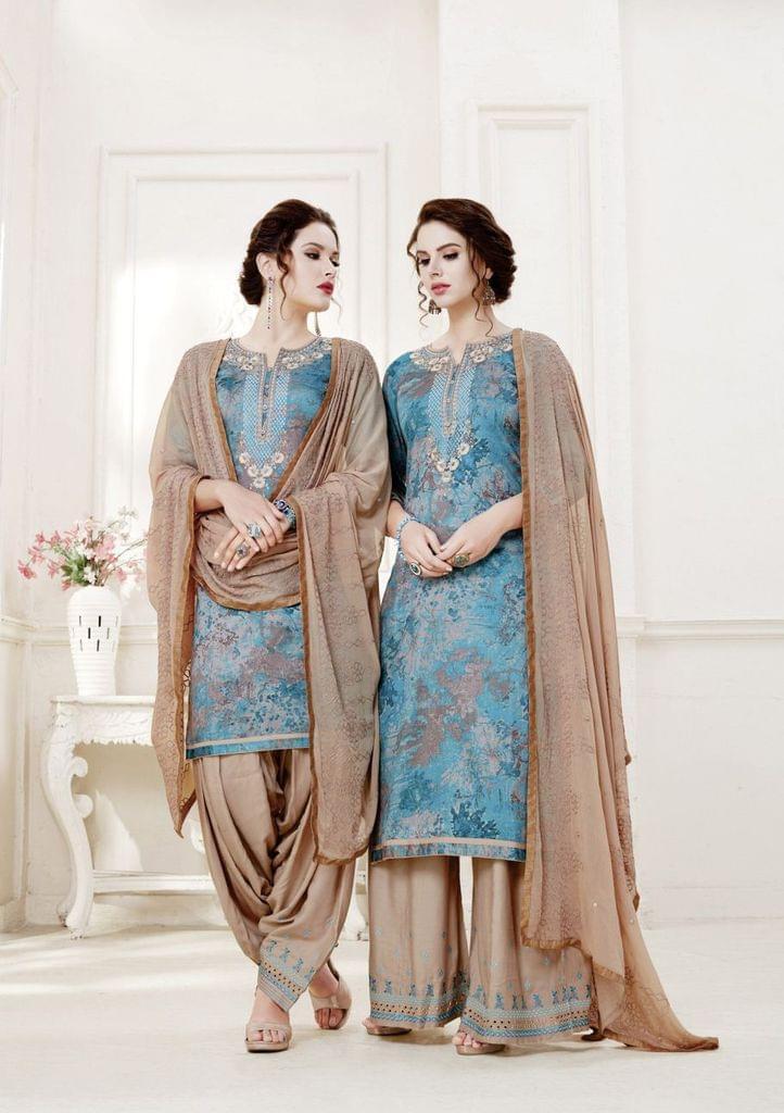Multi ColorColor Exclusive design Printed Patiala Suits30427
