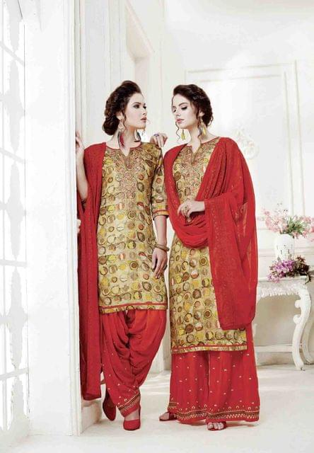 Multi ColorColor Exclusive design Printed Patiala Suits30430