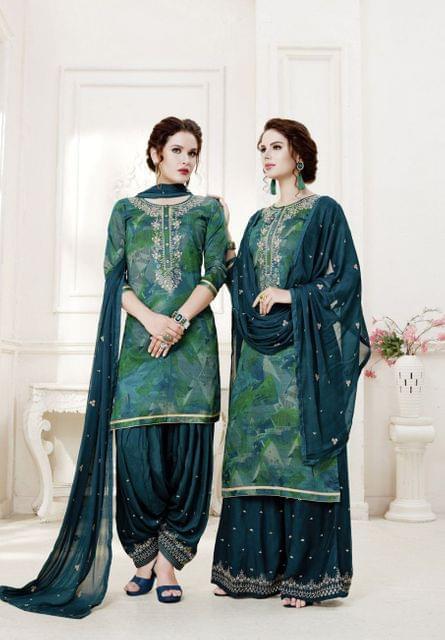 Multi ColorColor Exclusive design Printed Patiala Suits30431