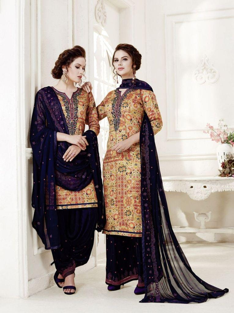 Multi ColorColor Exclusive design Printed Patiala Suits30435