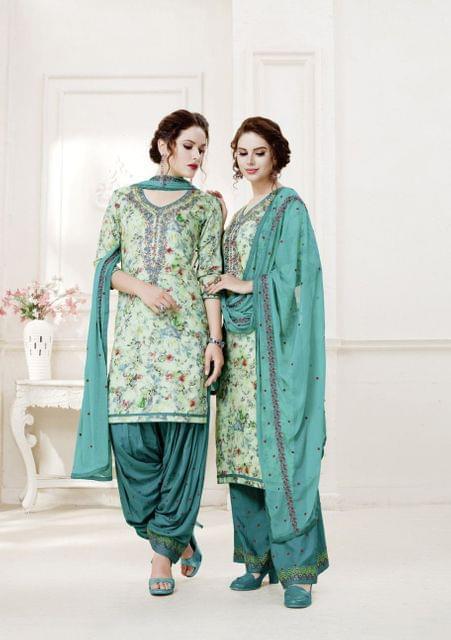 Multi ColorColor Exclusive design Printed Patiala Suits30436