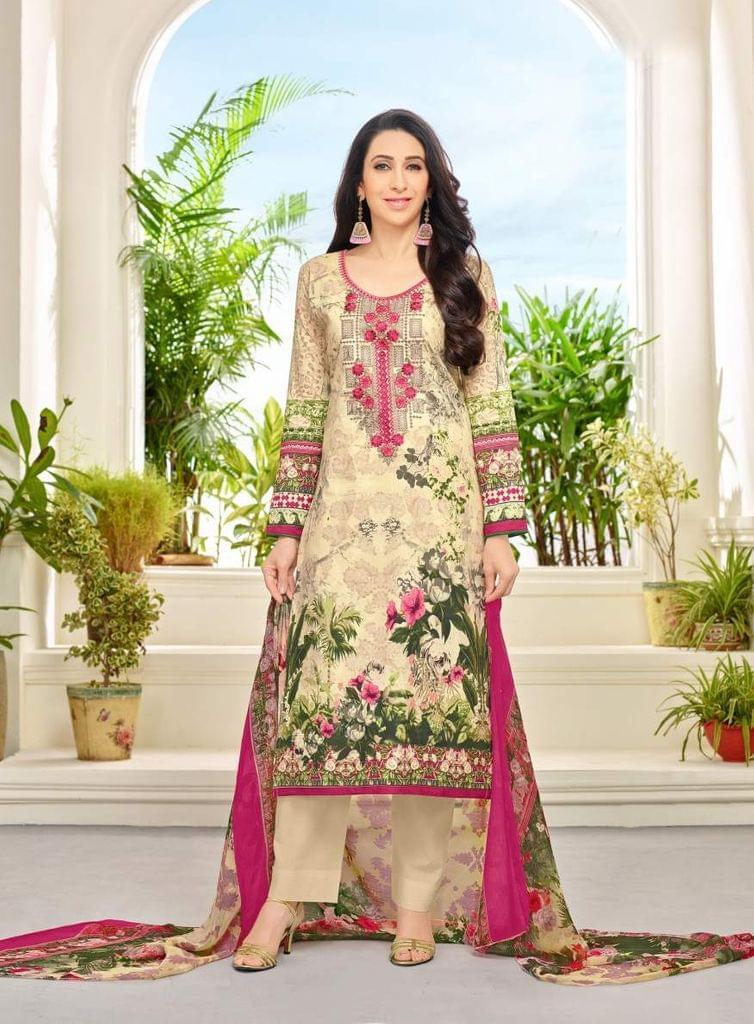 Beige Color Designer Straight cut Salwar Suit 30549