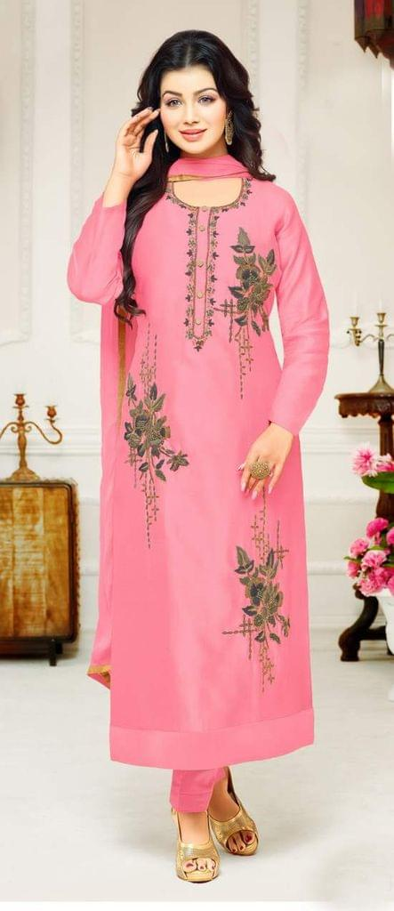 Light Pink Color Designer Embroidered Salwar Suit 30653