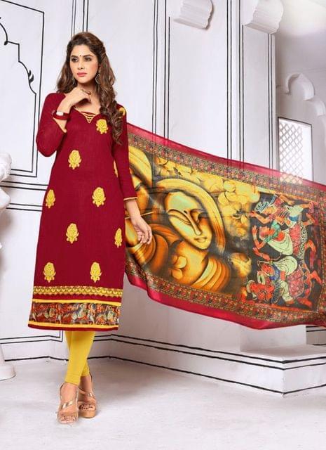 Maroon Color Designer Trendy Salwar Suit 29197