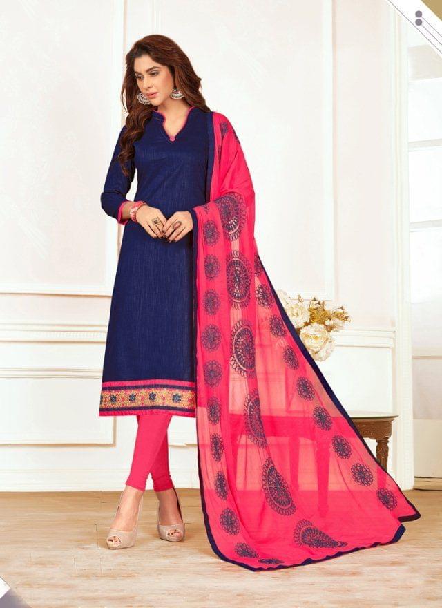 Navy Blue Color Designer Traditional Salwar Suit 29200
