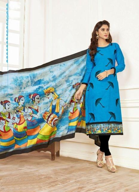 Blue Color Designer Traditional Salwar Suit 29214