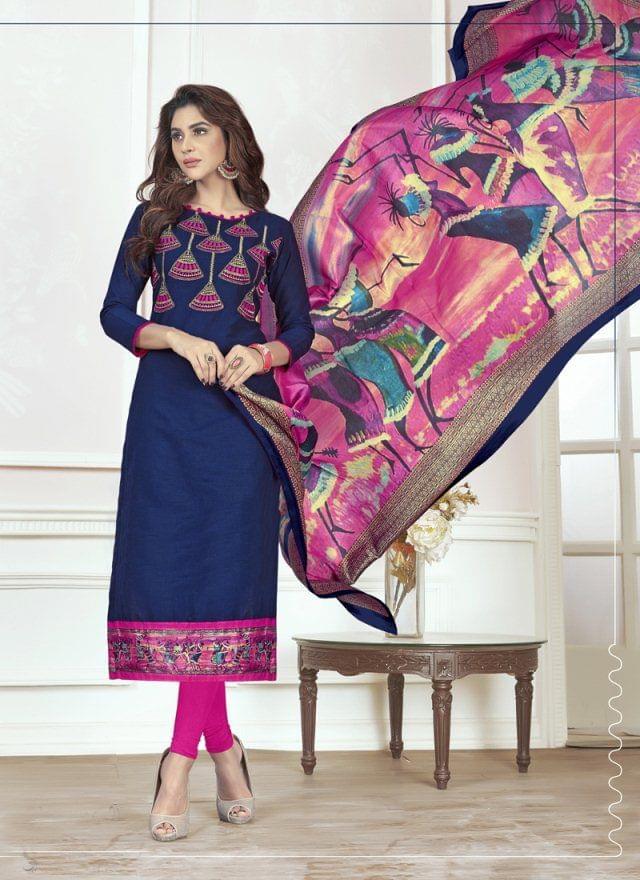 Navy Blue Color Designer Traditional Salwar Suit 29219
