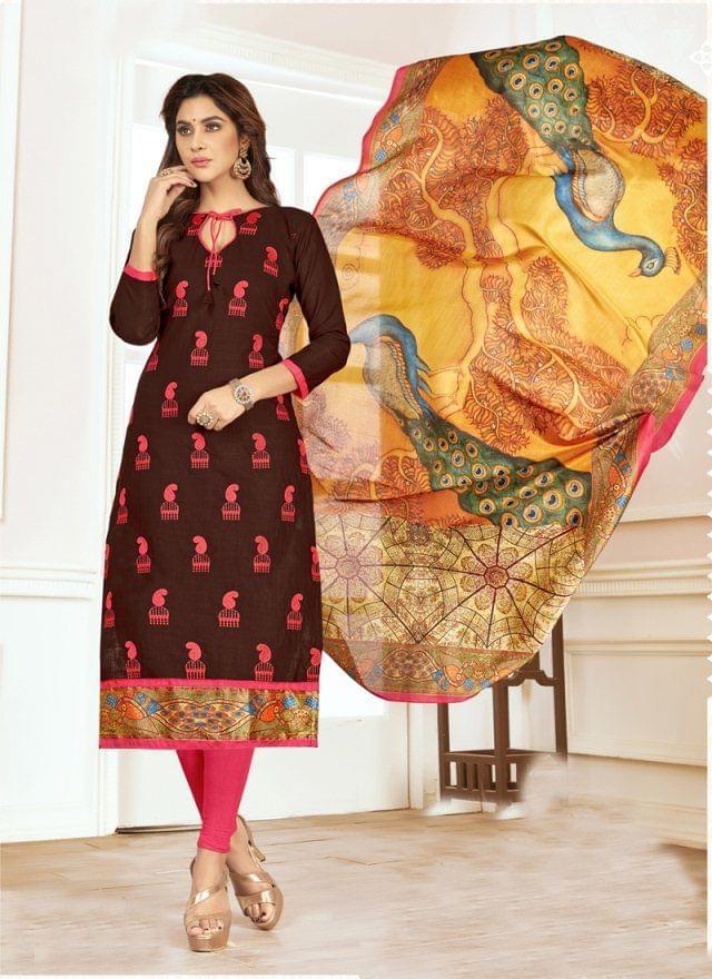 Brown Color Designer Traditional Salwar Suit 29220