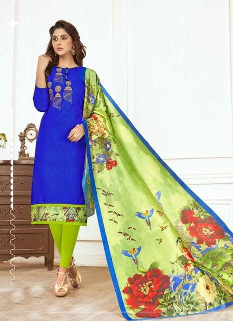 Royal Blue Color Designer Traditional Salwar Suit 29221