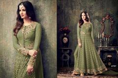 Light Green Color Anarkali Salwar Suit   707-green