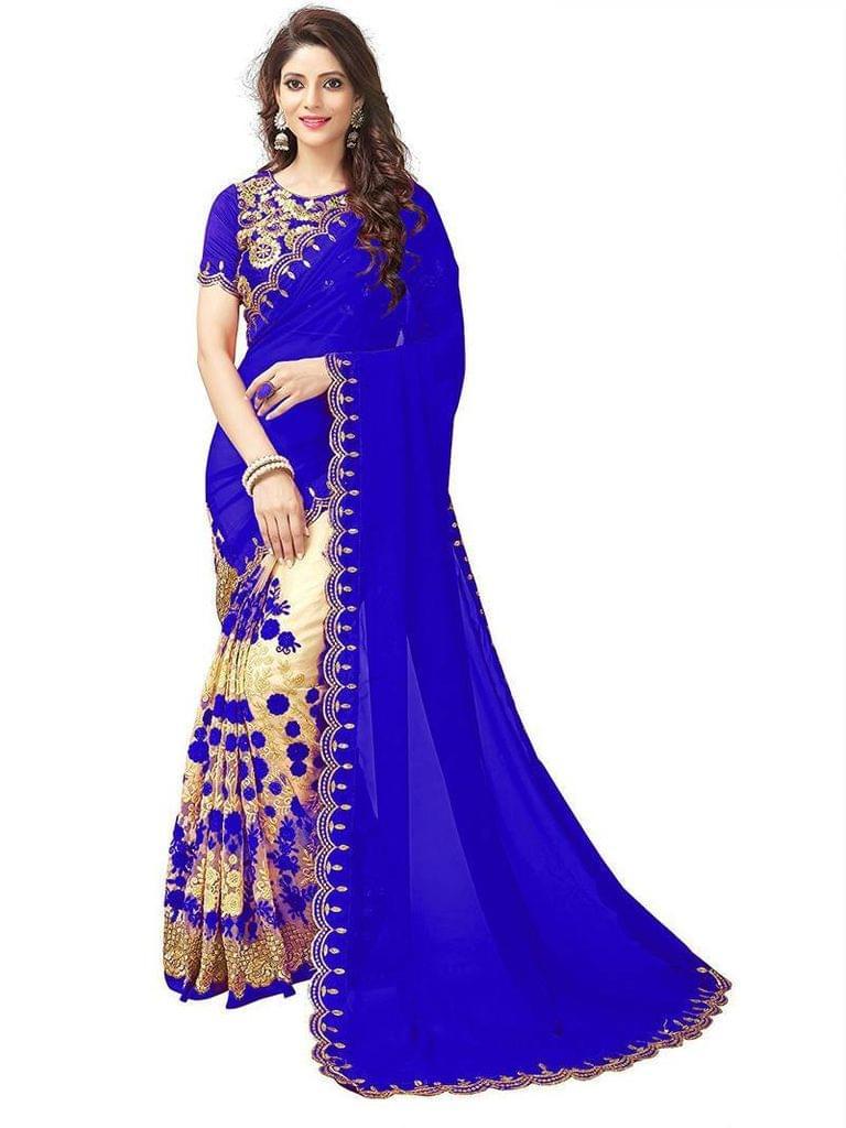 Beige Color Net Saree SANX-211