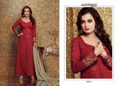 Red Georgette Pakistani Style Salwar Kameez Suit
