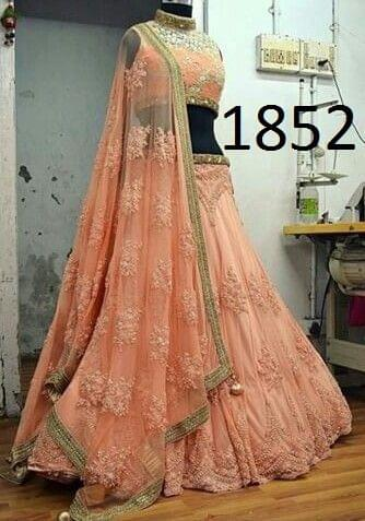 Georgette Semi-Stitched Lehenga Choli 1852