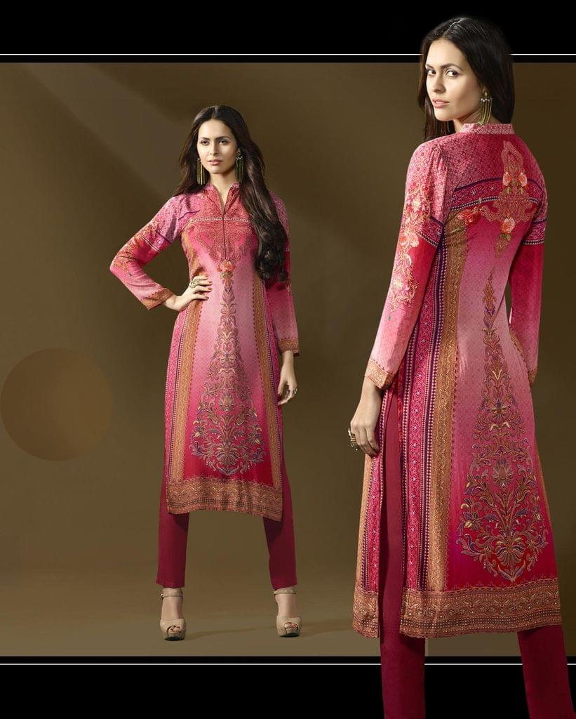 Multi Color Cotton Satin Designer Readymade Kurti 30903