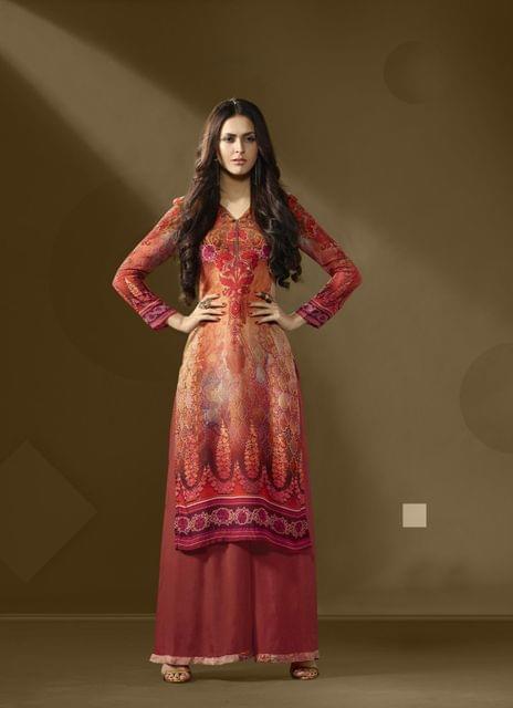 Multi Color Cotton Satin Designer Readymade Kurti 30909