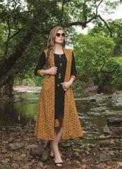 Black & Yellow Color Designer Readymade Kurti 30924