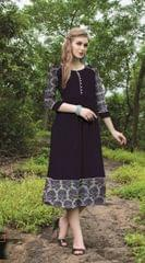 Black Color Designer Readymade Kurti 30926