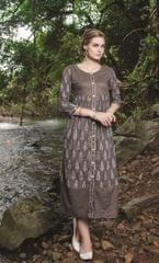 Grey Color Designer Readymade Kurti 30927