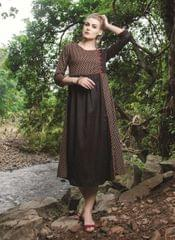 Brown Color Designer Readymade Kurti 30930