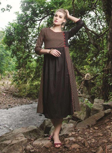 Brown Color Designer Readymade Kurti 30930