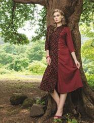 Brown & Maroon Color Designer Readymade Kurti 30931