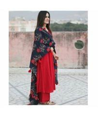 Red Color Rayon Designer Suit SASTYLEbl- 507