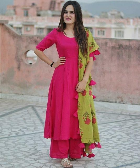 Pink Color Rayon Designer Suit SASTYLEYe- 507