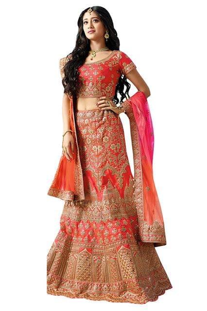 Nayra Phantom Orange Bollywood Lehenga Choli