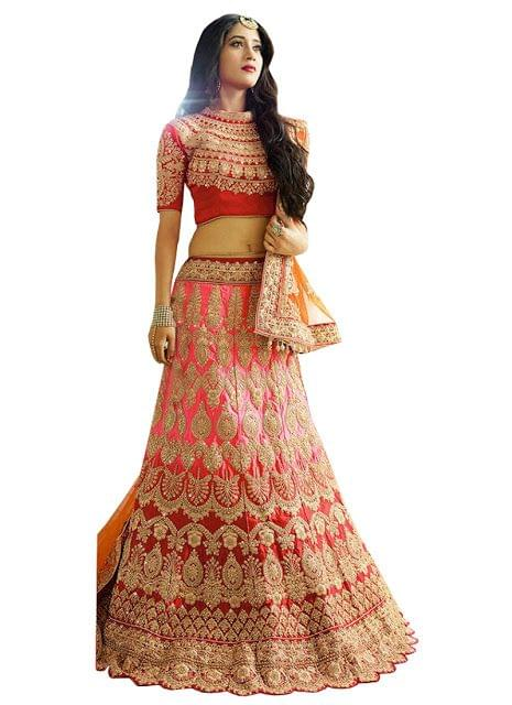 Nayra Phantom Red & Pink Bollywood Lehenga Choli
