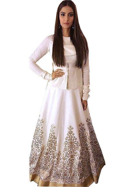 Sonam Kapoor White Designer  Lehenga Choli