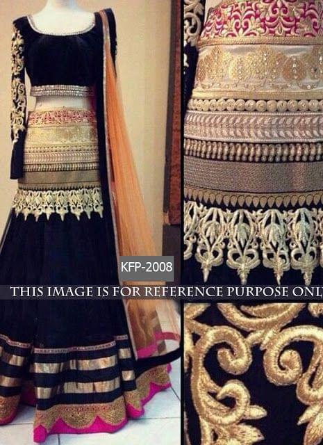 Buy Black Georgette Heavy Designer Lehenga Choli