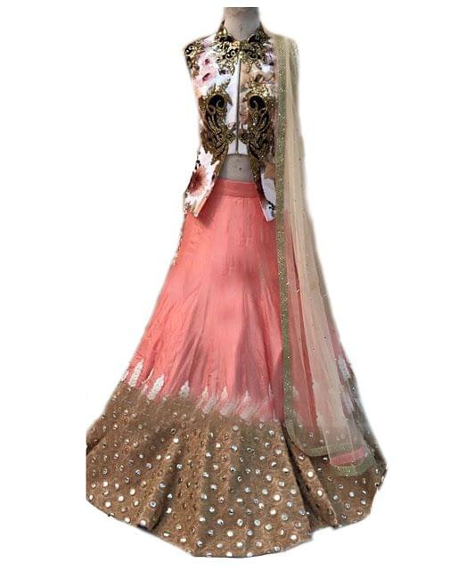 Pastel Perfect Lehenga by MischB Couture