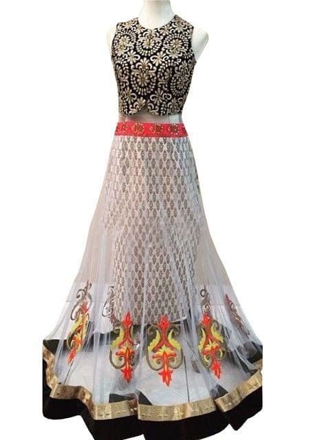 New Designer  White Net Lehenga Choli