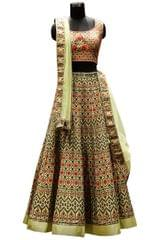 Buy Banglori Silk Multicolor Replica Lehenga Choli