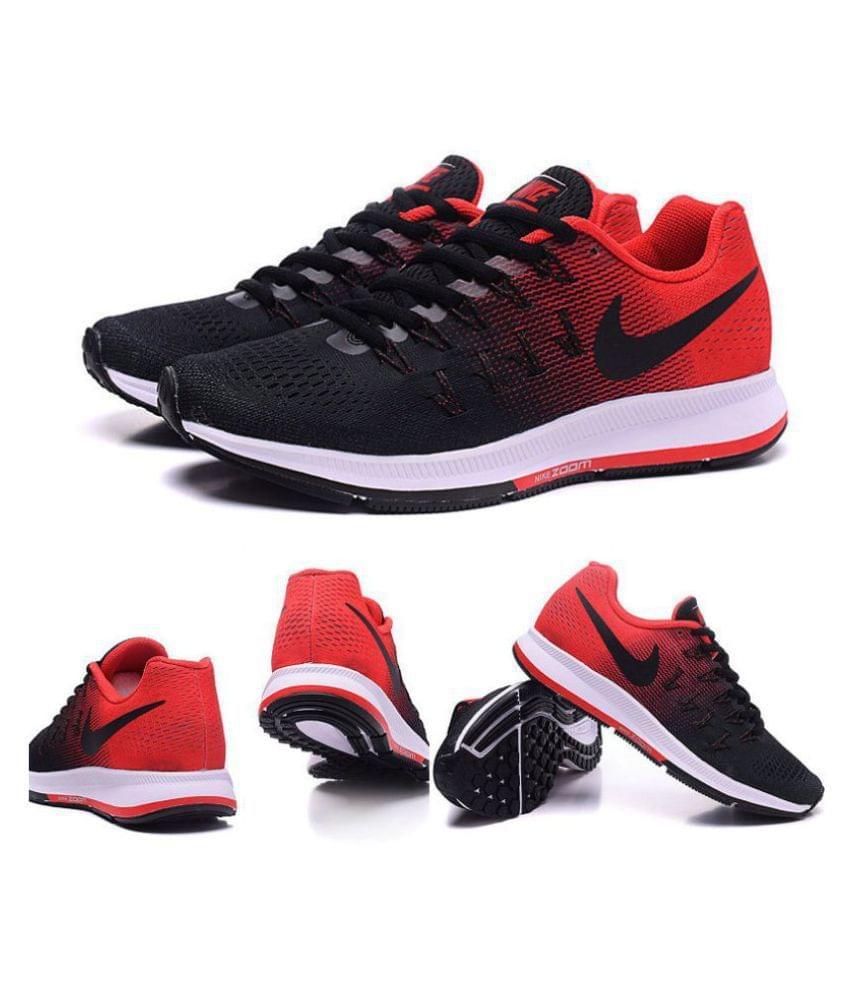 Pegasus 33 Black Red Running Shoes