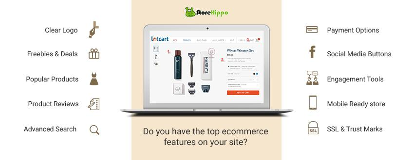 10 must have ecommerce features for the success of your website