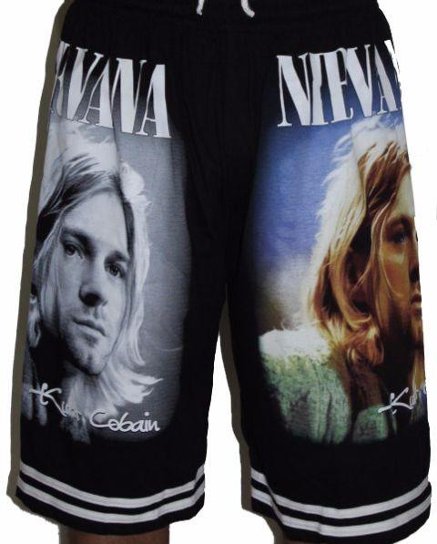 Nirvana Kurt Cobain Premium Shorts - Free Size (28 inches to 46 inches)
