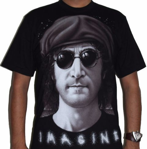John Lennon - The Beatles - Imagine Premium Tshirt