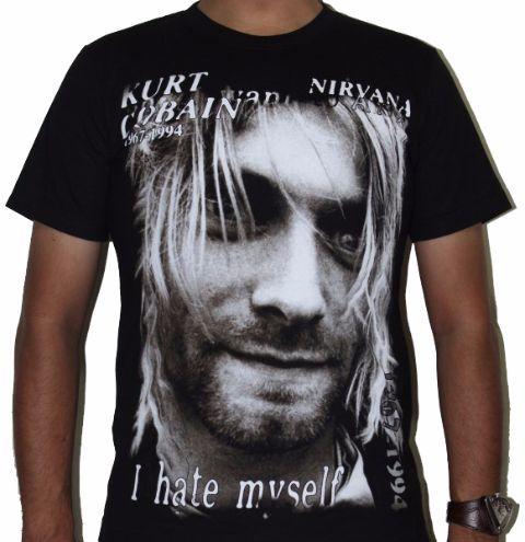 Nirvana Kurt Cobain I hate myself-Premium Tshirt